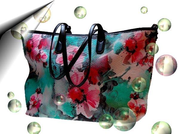 Italienische-Damentasche-Bunte-Blumen-Nr2