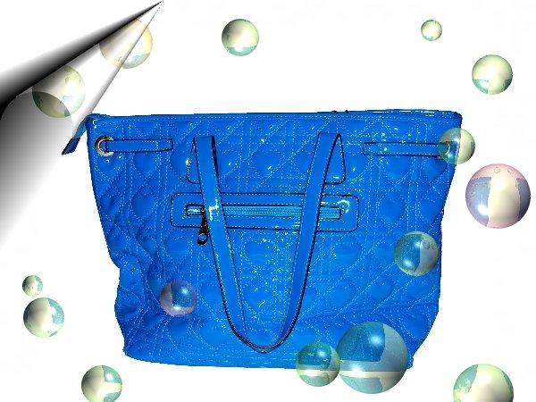 Italienische-Damentasche-Lack-Blau-Nr2