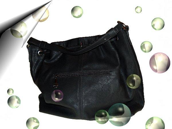Italienische-Damentasche-Schwarz-Leder-Look-Nr2
