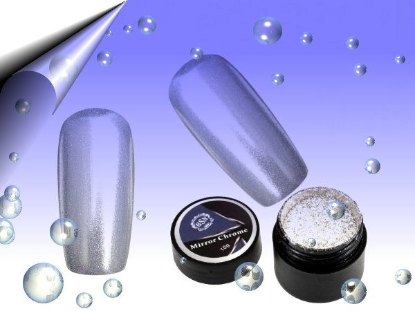 Mirror-Chrome-Gel-Glitzer-Powder-Silber-10g