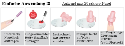 Nail-Stamping-Schablone-Anleitung